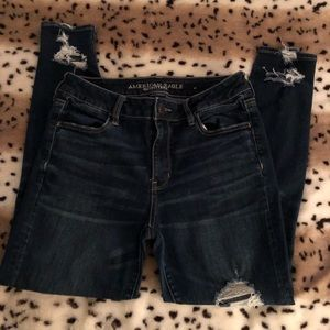American Eagle Super Stretch Ripped Jeans Size 10S